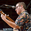 (Brad Davis/The Register-Herald) Hunter Walker and Beckley's own Long Point String Band perform during the Appalachian Jamboree August 22 at Woodrow Wilson High School.