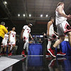 Oak Hill's team walks on to the court during their West Virginia State Championship Class AA Quarter Finals in Charleston on Thursday. (Chris Jackson/The Register-Herald)