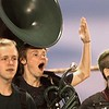 Wyoming East band members react to a big play. Chad Foreman for the Register-Herald.