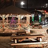 Christmas light around the gazebo and train at New River Park in Beckley.<br /> (Rick Barbero/The Register-Herald)