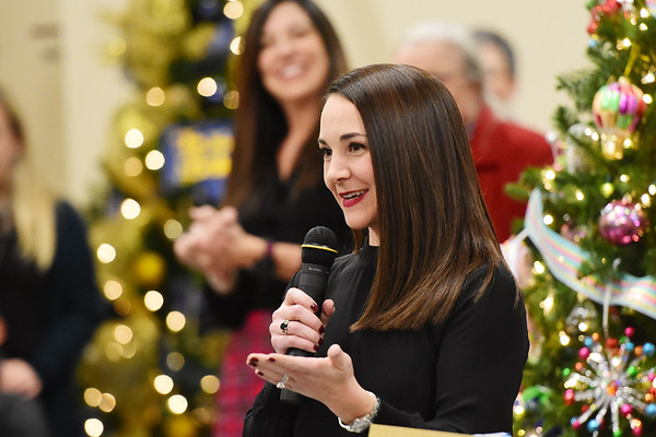 Megan Legursky, the new executive director of the United Way of Southern West Virginia, during the 11th annual United Way of Southern West Virginia's Wonderland of Trees Auction at the J.W. And Hazel Ruby West Virginia Welcome Center in Mt. Hope on Friday. (Chris Jackson/The Register-Herald)