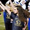 (Brad Davis/The Register-Herald) Shady Spring dance team members perform during the halftime show of their game against Lincoln County Friday night in Shady Spring.