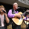 "Lou Honaker, left, Roger Cox and Lathan White, with ""For Him,"" singing during, ""Senior Day Out"" held at Beckley-Raleigh County Convention Center. The event had, music bingo, vendors, door prizes, information about products and services for our senior community and was co-sponsored by, The Register-Herald and Raleigh County Commission on Aging.<br /> (Rick Barbero/The Register-Herald)"