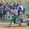 Wyoming East's Holly Brehm swings at a pitch during their Class AA, Region 3, Section 1 softball game against Independence in Coal City on Tuesday. (Chris Jackson/The Register-Herald)