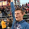 Chance Cunningham, 10th grader at Independence, rooting for his team against Shady Spring at Independence High School<br /> (Rick Barbero/The Register-Herald)