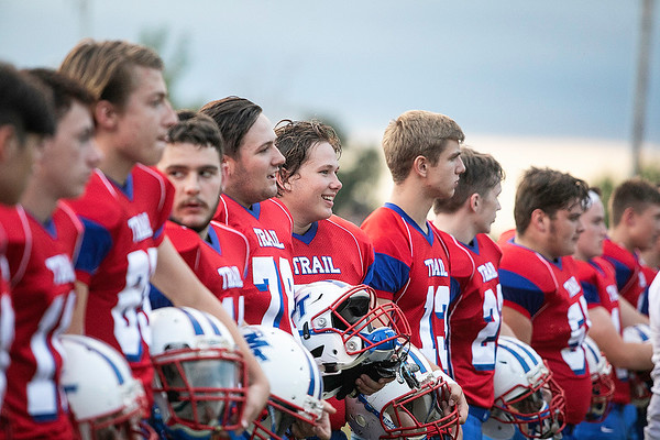 Midland Trails' Patriot watching the action from the sidelines against the Oak Hill Red Devils.<br /> Submitted photo by Sarah Garland