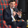 (Brad Davis/The Register-Herald) New West Virginia University head football coach Neal Brown answers questions as the special guest at the year's Big Atlantic Classic Tip-Off Banquet Sunday afternoon at the Beckley-Raleigh County Convention Center.