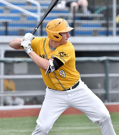 (Brad Davis/The Register-Herald) Miners 1st baseman Ross Mulhall bats against Lafayette June 2 at Linda K. Epling Stadium.