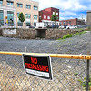 Beckley hole on the corner of Neville and Heber Street.<br /> (Rick Barbero/The Register-Herald)