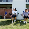 "Linda Hayes, left,  and her sister Carol Cales, from Lewisburg, try and find shade during the first round of golf of A Military Tribute at The Greenbrier in White Sulphur Springs on Thursday. ""We haven't missed one of thie yet,"" said Cales. (Chris Jackson/The Register-Herald)"