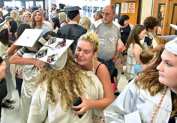 (Brad Davis/The Register-Herald) Scenes from Westside's commencement Saturday afternoon in Clear Fork.