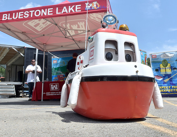 (Brad Davis/The Register-Herald) Cory the Corps Boat, long-tenured mascot of the Army Corps of Engineers, wants you to be safe on the water out there.