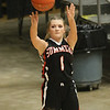 (Brad Davis/The Register-Herald) Summers County's Bethani Cline shoots for three against Spring Valley during Big Atlantic Classic action Friday afternoon at the Beckley-Raleigh County Convention Center.