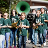 Members of the Wyoming East High School Marching Band during the Labor Day Parade in Pineville on Monday. (Chris Jackson/The Register-Herald)