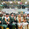 (Brad Davis/The Register-Herald) Confetti flies at the conclusion of Wyoming East's 2019 Commencement Ceremony Friday night in New Richmond.