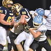 (Brad Davis/The Register-Herald) Shady Spring's Issac Harvey carries the ball against Lincoln County Friday night in Shady Spring.