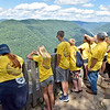 (Brad Davis/The Register-Herald) Young Tomorrow is Mine summer campers take in the grand view at the Grandview Park scenic overlook during a Field Day event for participants Friday afternoon.