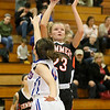 (Brad Davis/The Register-Herald) Summers County's Gavin Pivont drives to the basket as Midland Trail's Mia Nuckolsl defends Wednesday night in Hico.