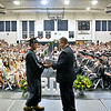 (Brad Davis/The Register-Herald) Westside seniors collect their diplomas before a packed gym of family and friends during the school's Commencement Ceremony Saturday afternoon in Clear Fork.