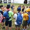 Scouts from different countries singing songs together during the World Scout Jamboree at the Summit Bechtel Reserve in Glen Jean.