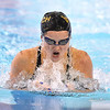 (Brad Davis/The Register-Herald) WVU Tech's Mariara Loureiro competes in the breast stroke Friday night at the YMCA of Southern West Virginia.