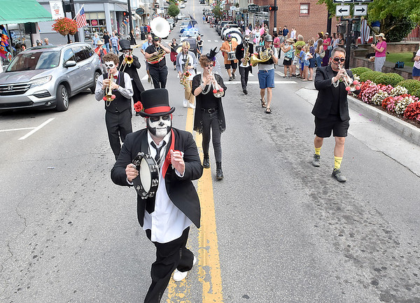 (Brad Davis/The Register-Herald) Scenes from Chally Herb's memorial parade July 27 in Lewisburg.