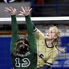 (Brad Davis/The Register-Herald) Greenbrier West v Paden City during State Volleyball Tournament action Friday afternoon at the Charleston Civic Center.