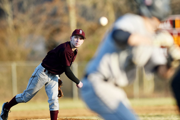 Woodrow Wilson's pitcher Johnie Clay (6) delivers a pitch to a Shady Spring batter during their baseball game in Beckley on Tuesday. Woodrow won 8-7. (Chris Jackson/The Register-Herald)