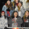 (Brad Davis/The Register-Herald) Liberty students pull for their Raider classmates on the field against Shady Spring Friday night in Glen Daniel.