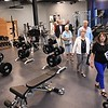 People looking over the gym on a tour of the Beckley Police Department on 501 Neville Street after the ribbon cutting dedication ceremony of the new building.<br /> (Rick Barbero/The Register-Herald)