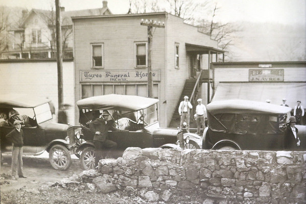 A photograph of Pax from circa the 1920's. The town of Pax has gone from a population of more than 600 in 1940 to closing in on 150 as its businesses close and its population migrates elsewhere or passes away.