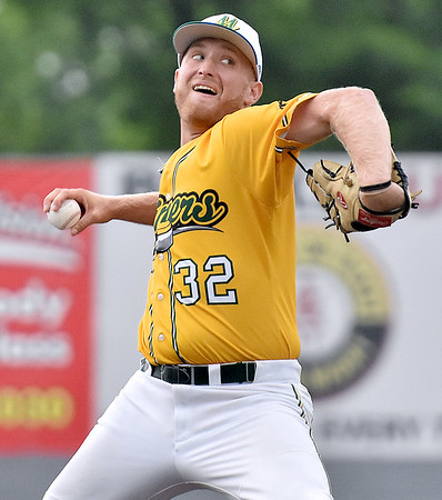 (Brad Davis/The Register-Herald) Miners pitcher Philip Hoffman delivers against Lafayette June 2 at Linda K. Epling Stadium.