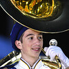 Shady Spring band member performing before the start of the game against Braxton Co. at Shady Spring High School.<br /> (Rick Barbero/The Register-Herald)