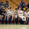 Oak Hill's team looks on during their West Virginia State Championship Class AA Quarter Finals in Charleston on Thursday. (Chris Jackson/The Register-Herald)