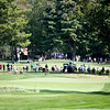 Fans wait to watch golfers at the No. 8 hole during the first round of golf of A Military Tribute at The Greenbrier in White Sulphur Springs on Thursday. (Chris Jackson/The Register-Herald)