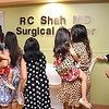 The family of late Dr. R.C. Shah, MD, view the unveiling on the second floor of the R.C. Shah, MD Sugical Center held during a Memorial Tribute and Dedication Cememony at Beckley ARH Hospital on Stannaford Road. <br /> (Rick Barbero/The Register-Herald)