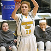 (Brad Davis/The Register-Herald) Greenbrier East's Emma Dotson shoots from three-point range against Spring Valley during Big Atlantic Classic action Wednesday night at the Beckley-Raleigh County Convention Center.
