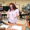 Crescent Elementary School first grade teacher Kayla Boyd working with her class.<br /> (Rick Barbero/The Register-Herald)