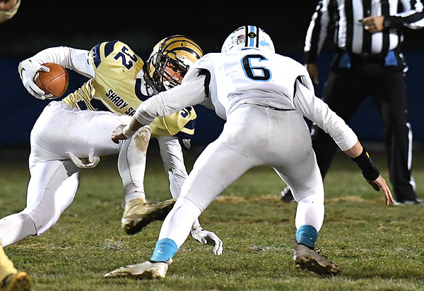 Shady Spring vs Mingo Central during the first round playoff game held at Shady Spring High School.<br /> (Rick Barbero/The Register-Herald)