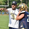 (Brad Davis/The Register-Herald) Shady Spring head coach Vince Culicerto instructs his players during Tigers practice Friday.