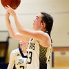 Greenbrier West's Camryn Dorsey shoots during their basketball game against Midland Trail in Charmco on Thursday. (Chris Jackson/The Register-Herald)