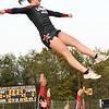Liberty High School cheerleader Chelsea Jones, gets tossed in the air during game against Pikeview at Liberty High School in Glen Daniels.<br /> (Rick Barbero/The Register-Herald)