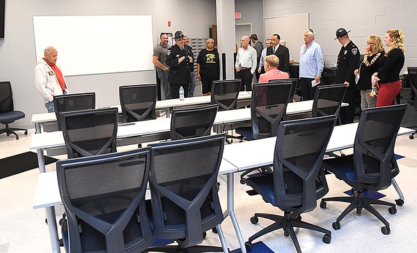 Briefing room of the new Beckley Police Department headquarters on 501 Neville Street.<br /> (Rick Barbero/The Register-Herald)