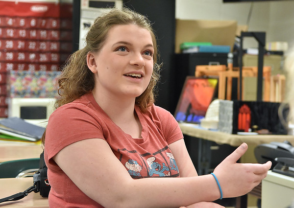 (Brad Davis/The Register-Herald) Greenbrier East junior Emma Vass speaks to the Register-Herald during a visit to the school May 30 in Fairlea.