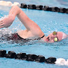 (Brad Davis/The Register-Herald) Woodrow Wilson's Gillian Breeden competes in the 200 meter freestyle event during the Southern Coalfields Classic Invitational Saturday afternoon at the YMCA of Southern West Virginia.