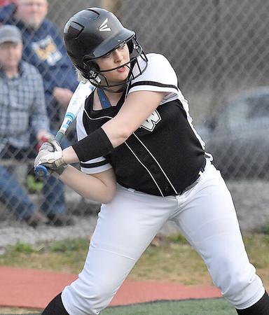 (Brad Davis/The Register-Herald) Westside hitter Alyssa Bailey bats against Oak Hill Friday evening in Oak Hill, driving in 4 runs on the day.