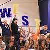 Greenbrier West fans cheer during the Class A Region 3 Section 2 volleyball tournament against Greater Beckley Tuesday at Greenbrier West. (Jenny Harnish/The Register-Herald)