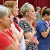 (Brad Davis/The Register-Herald) Scenes from the 13th annual 9/11 Memorial Service at the Lewis Christian Community Center Wednesday night in Oak Hill.
