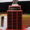 "(Brad Davis/The Register-Herald) The ""Battle of '76"" trophy sits ready to be collected by this year's winner between Liberty and Indy Friday night in Glen Daniel."