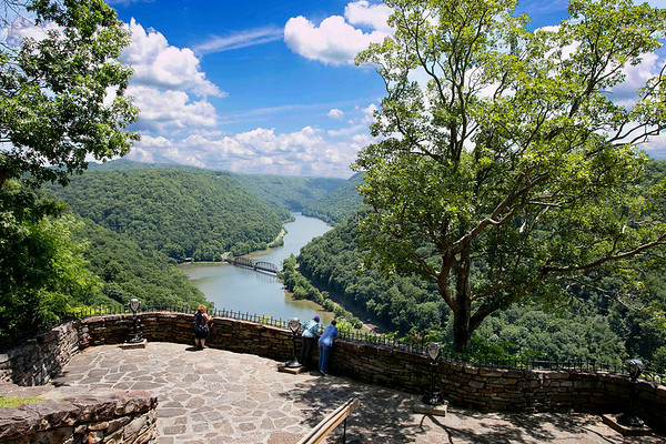 Scenic overlook at Hawks Nest State Park in Fayette County.<br /> (Photo by Brad Davis/The Register-Herald)